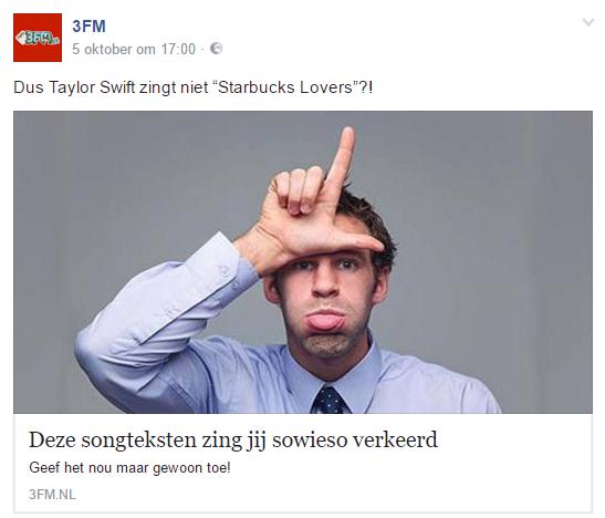 Clickbait van 3FM. Geen wonder dat ze luisteraars verliezen. ;-)