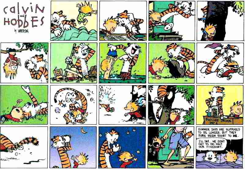 Calvin & Hobbes: hoe veel kun je zeggen zonder woorden?