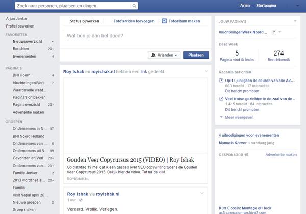Facebook zonder beelden