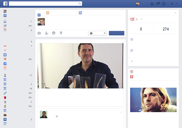 Facebook zonder webteksten