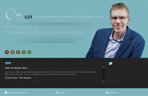 Website Gorgias Tekst & Communicatie, 2011
