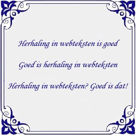 herhaling-in-webteksten