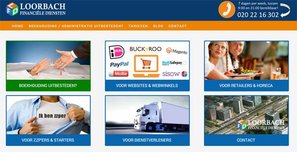 Diensten overzichtelijk op de homepage