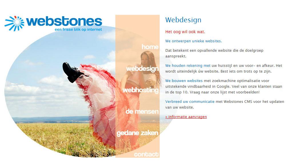 Webstones ontwerpt unieke websites...