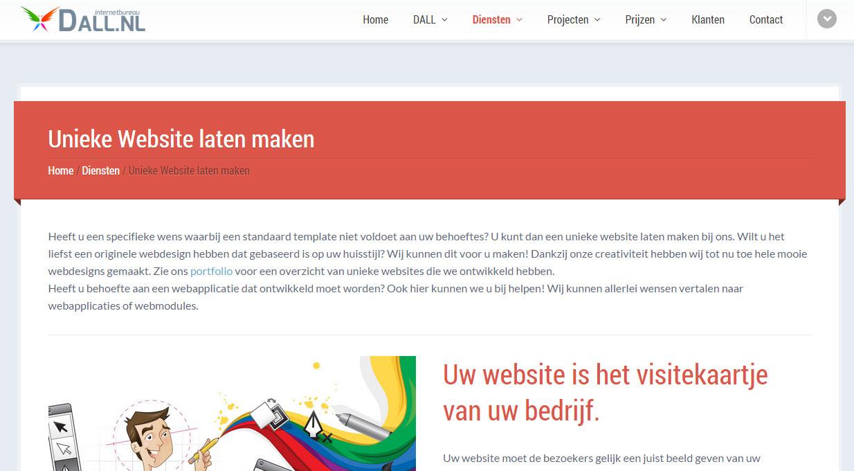 Bij Dall.nl laat jij je unieke website maken, die óók nog eens je visitekaartje is...
