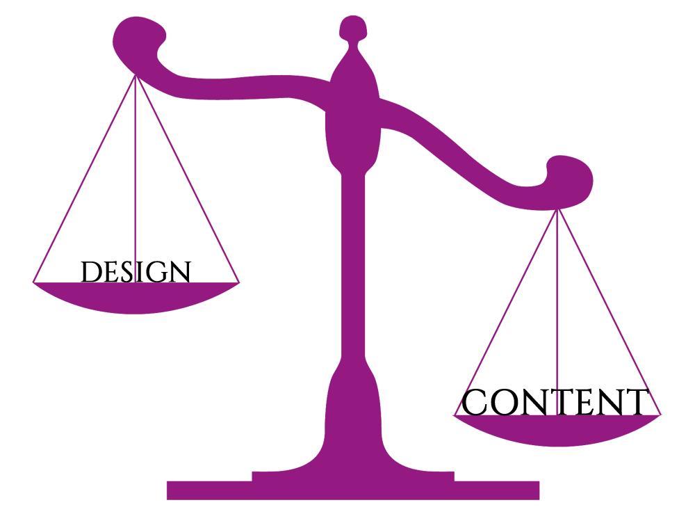 Design vs. Content: ik weet wel welke wint...