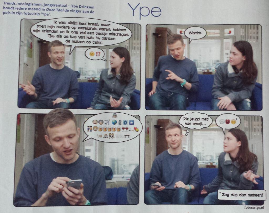 Ype in Onze Taal, over de jeugd en hun emoji